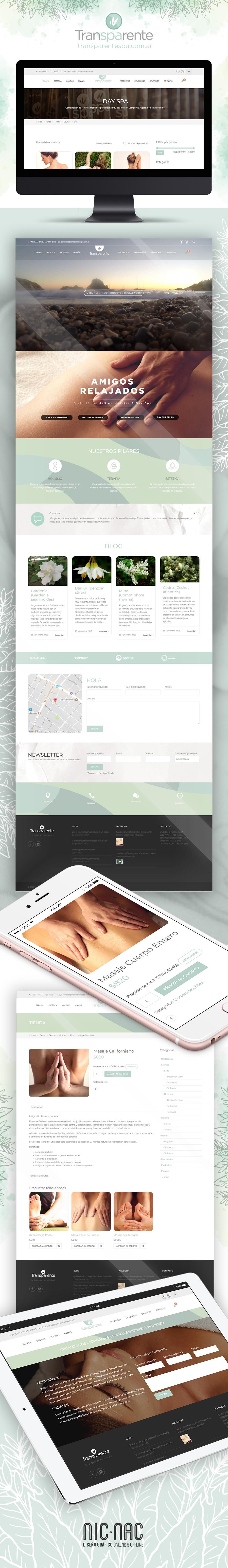 Transparente Spa Web